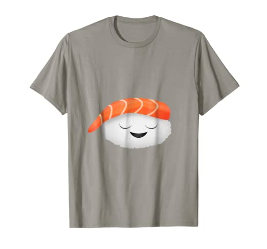 c444a287a0 Amazon.com: Funny Tee Sushi Salmon Face Cute T-Shirt: Clothing