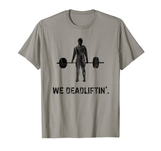 af135f2cb Image Unavailable. Image not available for. Color: Deadlifting Gym Funny  Vintage Lifting Deadlift T-Shirt