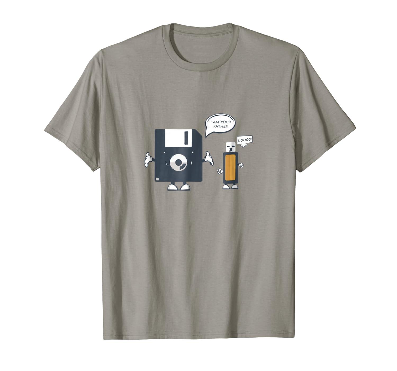 189e04cb02 Amazon.com: USB Floppy Disk I Am Your Father TShirt |Funny Nerd Geek Tee:  Clothing