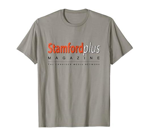 ffed6cc52707 Amazon.com  Official Stamford Plus magazine T-shirt  Clothing