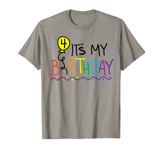 Image Unavailable Not Available For Color 4 Year Old Birthday T Shirt