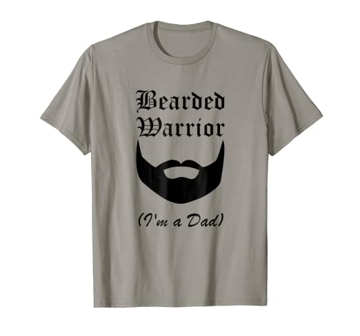 ae43adb9d2be40 Image Unavailable. Image not available for. Color  Bearded Warrior I m A  Dad Fun Beard Tee Shirt