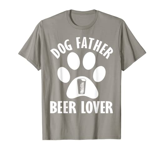 4c97db89a Image Unavailable. Image not available for. Color: Mens Dog Father Beer  Lover Shirt Best Dog Dad Ever Father's Day