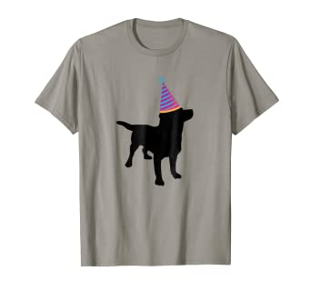 331871492 Image Unavailable. Image not available for. Color: Funny Black Lab Dog  Lover Birthday Party Animal Wearing Hat