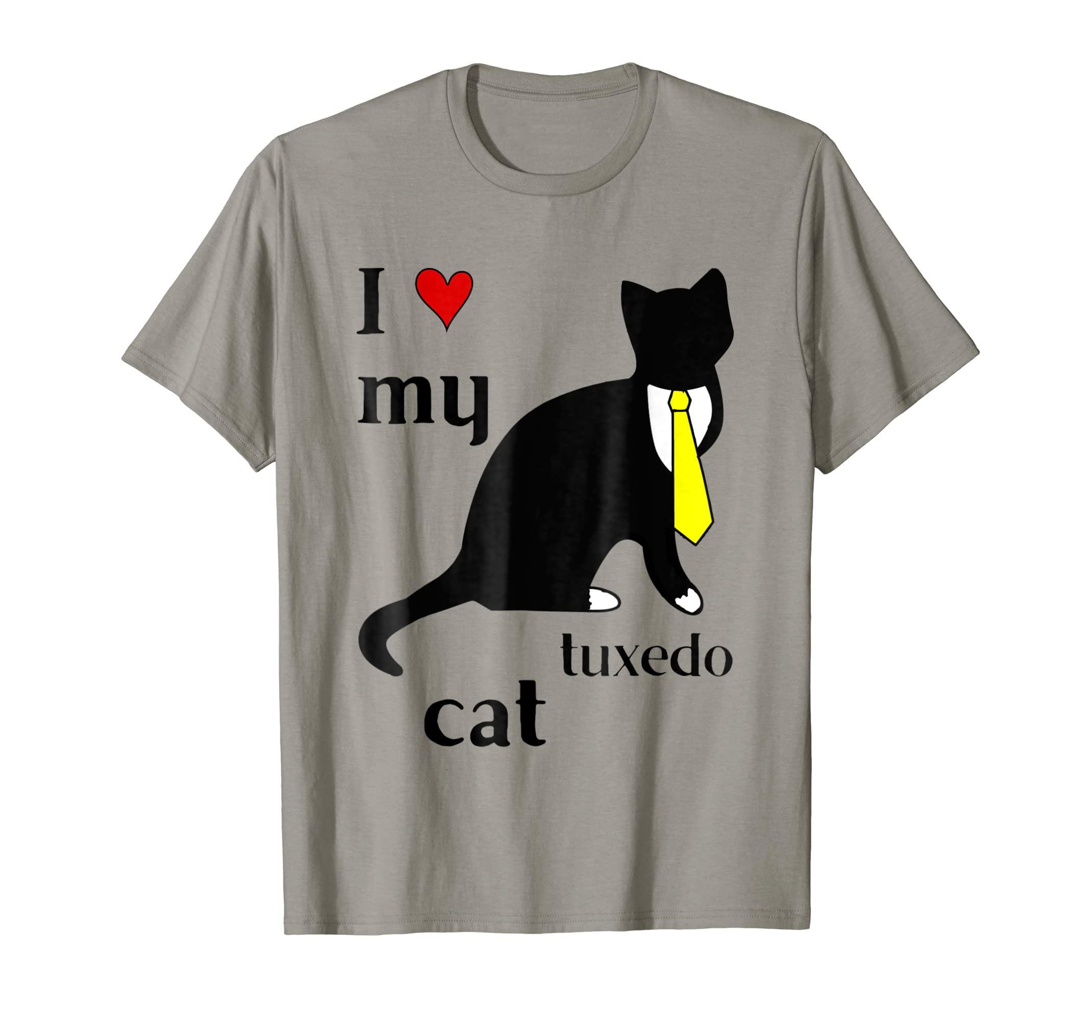 I Heart My Tuxedo Cat Funny T-shirt Kitty Lover Gift Idea-AZP