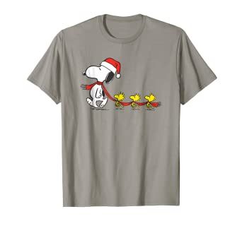 b22425f6c1621b Image Unavailable. Image not available for. Color: Peanuts Snoopy and  Woodstock Holiday T-shirt