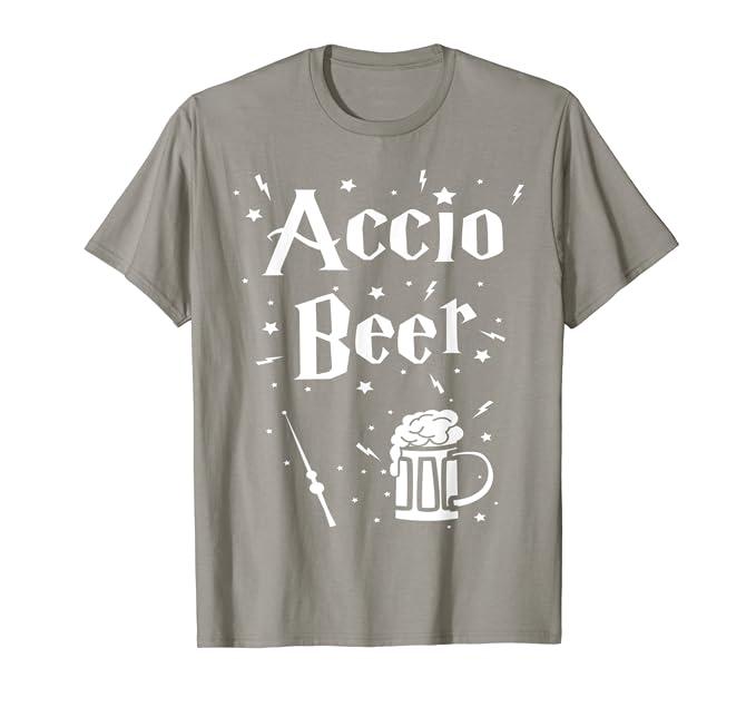 cd90c5033 Amazon.com: St. Patrick's Day Irish T-Shirt - Accio Beer Funny Tee: Clothing