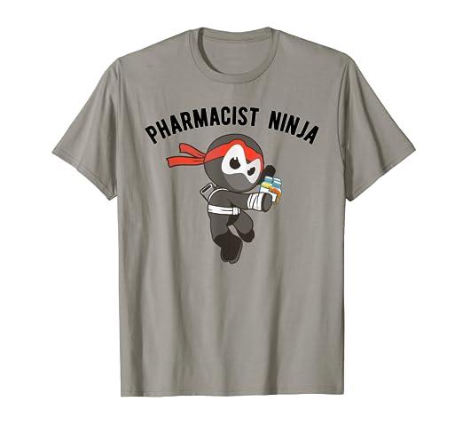 Amazon.com: Pharmacist Ninja T-Shirt, Ninjutsu Pharmacy Tee ...