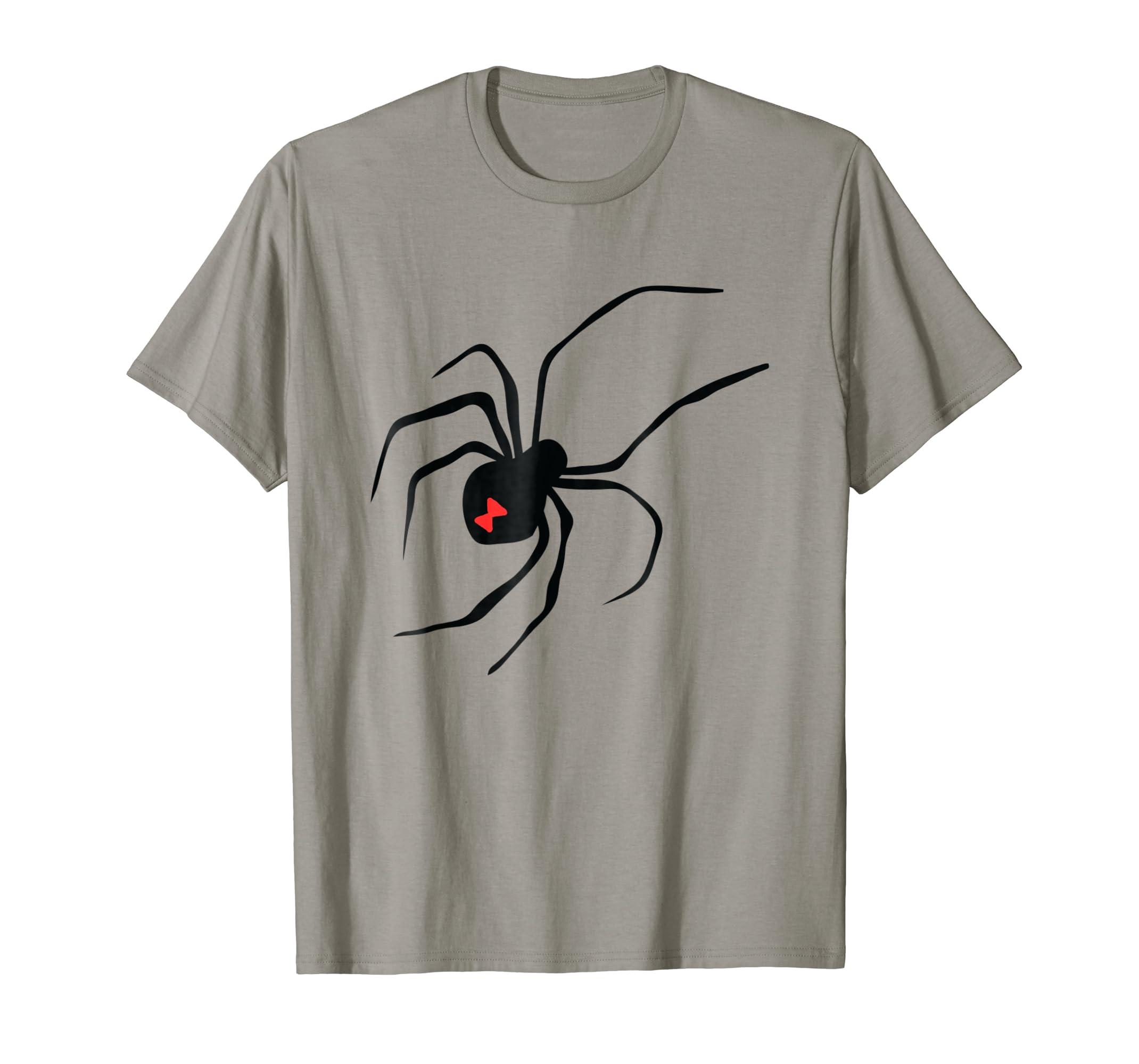 Black Widow Spider Spiderweb T-Shirt Halloween Costume-mt