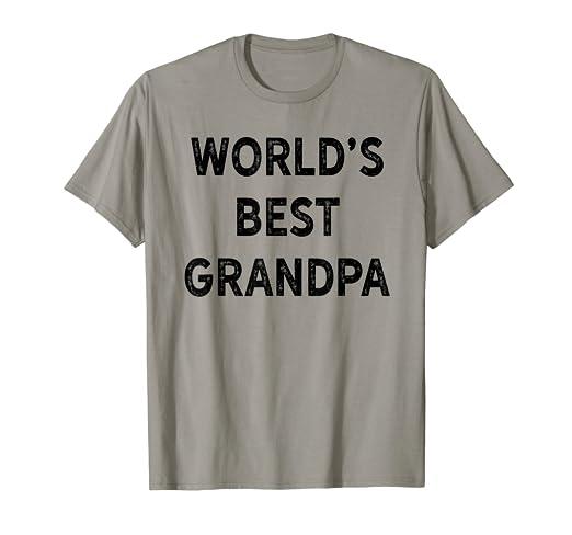 Amazon Worlds Best Grandpa T Shirt Fathers Day Birthday Gift