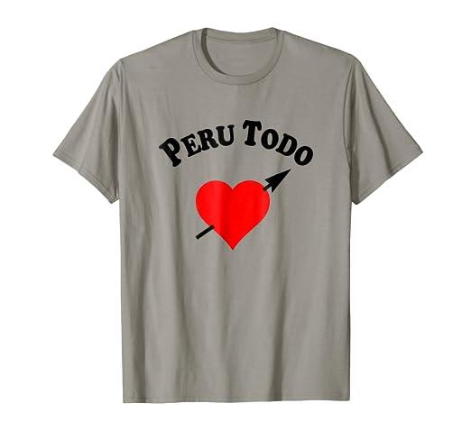 Peru Todo Corazon Futbol Camiseta 2018