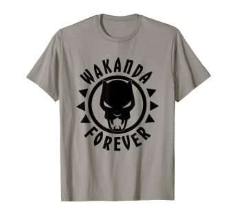 b179117a6b5c Image Unavailable. Image not available for. Color: Marvel Black Panther  Icon Wakanda Forever Circle T-Shirt