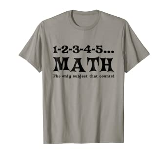 d1645f9a1 Image Unavailable. Image not available for. Color: Math Counts Funny School Mathematics  T-Shirt