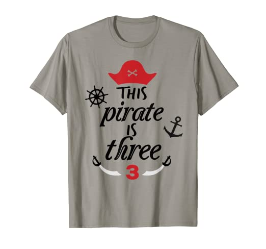 Image Unavailable Not Available For Color This Pirate Is Three Birthday T Shirt 3 Year Old