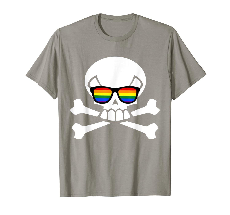 Bisexual Pirate Crossbones – Bisexuality LGBT Pride T-Shirt