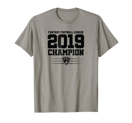 ed983db28b5 Image Unavailable. Image not available for. Color  Fantasy Football League  2019 Champion ...