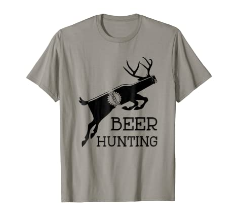 7b1302bb Image Unavailable. Image not available for. Color: Beer Hunting Funny Deer  Hunter Meme T-Shirt