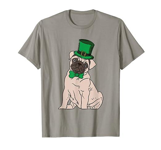 Amazon com: Pug St  Patricks Day T-Shirt Pugs Lucky Irish