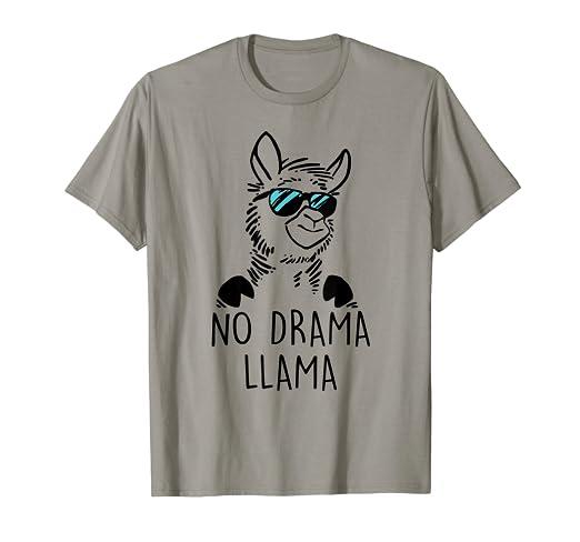 603133f96 Image Unavailable. Image not available for. Color: No Drama Llama Funny Lama  Shirt
