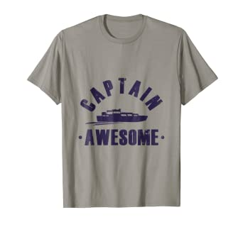 c7688bfe Image Unavailable. Image not available for. Color: Pontoon T-Shirt Captain  Awesome Funny ...