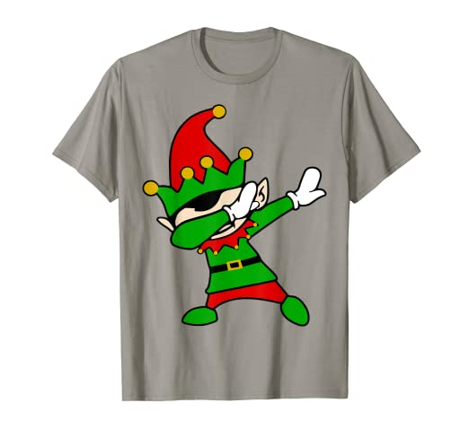47ebd810be9e8 Image Unavailable. Image not available for. Color  Dabbing Elf T-Shirt  Christmas ...