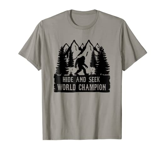 856d2f69 Image Unavailable. Image not available for. Color: Hide And Seek World  Champion T-shirt Bigfoot Is Real ...