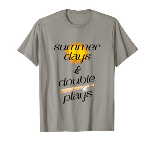 c5c199b59361 Image Unavailable. Image not available for. Color  Summer days   Double  plays baseball softball tshirt