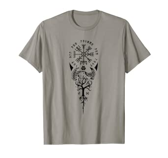 b5c0c0d8 Viking t shirt - Not All Who Wander Are Lost