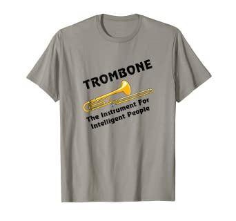 Amazon.com  Intelligent Trombone Funny Musical Instrument T Shirt ... a374b20bd