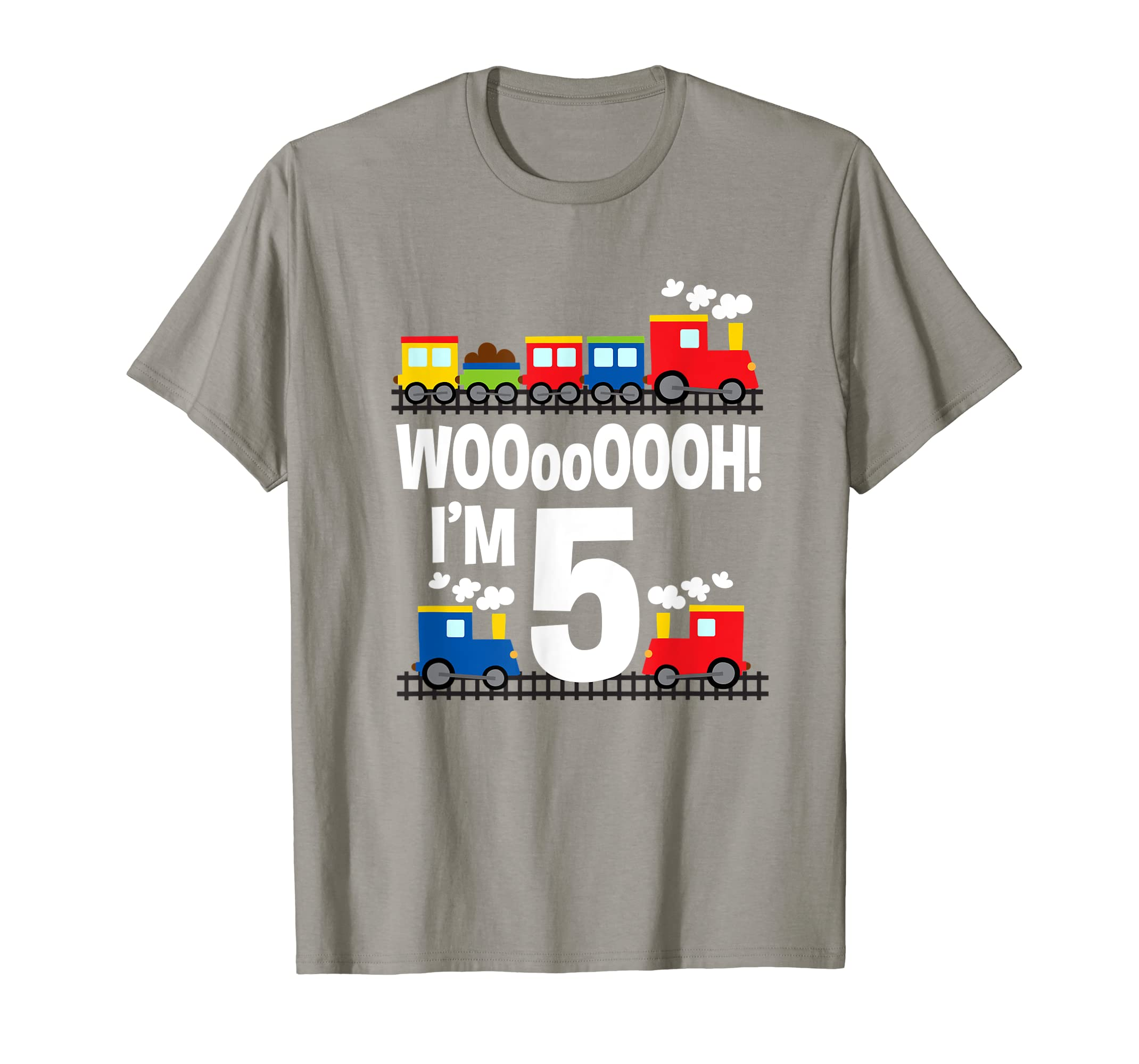 Im 5 Trains Birthday T Shirt For Toddlers Clothing