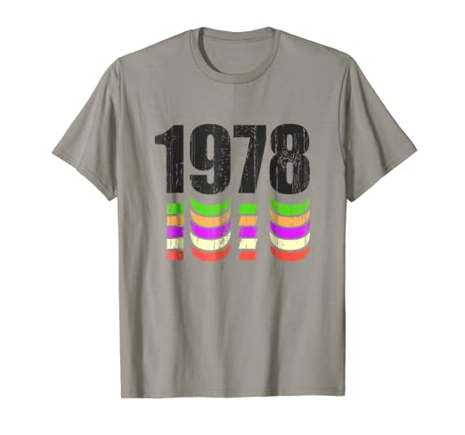 40th Birthday Gift Shirt For Man Or Woman 1978 Retro Look
