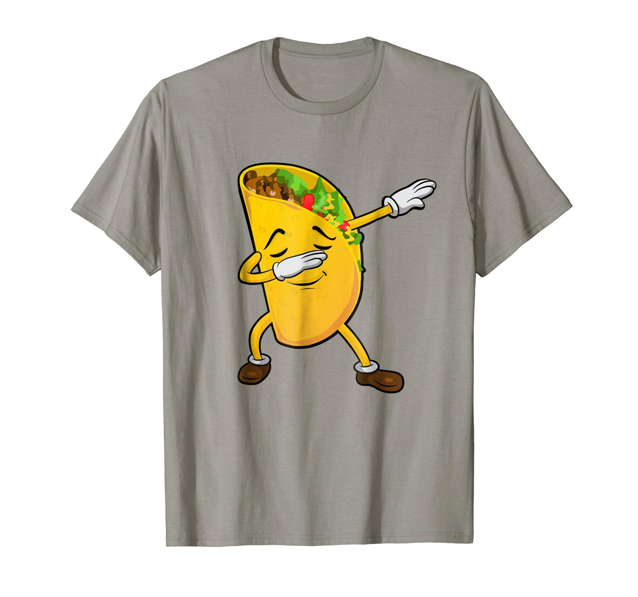a06ce257 Amazon.com: Dabbing Taco Shirt Cinco de Mayo Shirt Men Women Kids Tee:  Clothing
