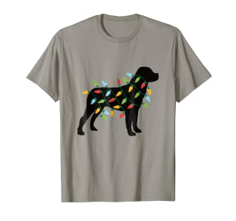 Amazon Com Christmas Lights Rotweiler T Shirt Cute Gifts For Dog