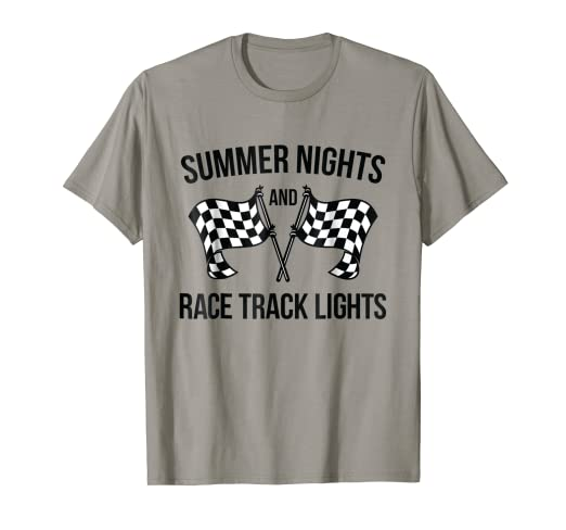 16a7473d3 Amazon.com: Summer Nights and Race Track Lights T-shirt (racing ...