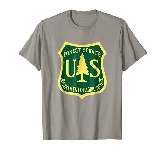 06b6e16cbf33be Amazon.com: U.S Forest Service T-Shirt | Classic Logo: Clothing