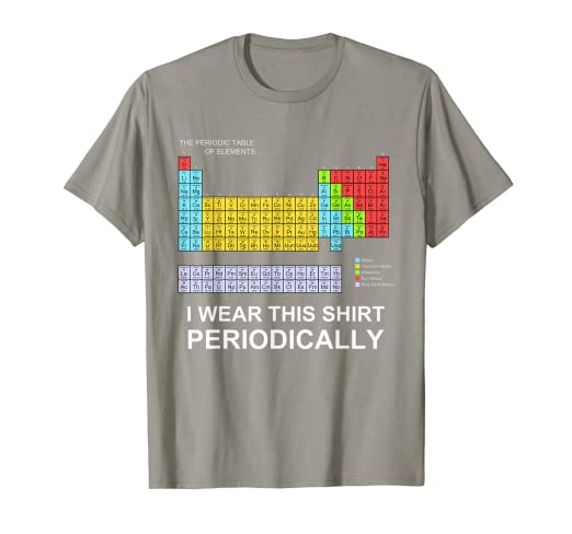 ff5b07914 Amazon.com: I Wear this Shirt Periodically T-shirt funny science ...