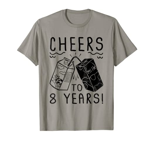 Amazon Cheers To 8 Years Old T Shirt 8th Birthday Gift Clothing