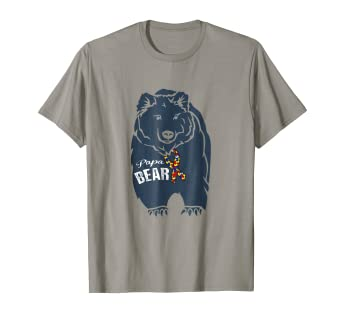 0a2fe5c9 Image Unavailable. Image not available for. Color: Mens Papa Bear Autism  Awareness T shirt
