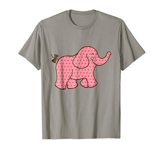 0c03cb8187d0 Amazon.com  Pink Elephant T-Shirt  Clothing