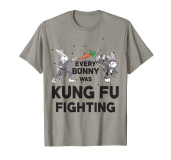 ae9a3634 Image Unavailable. Image not available for. Color: Every Bunny Was Kung Fu  Fighting Funny Ninja Easter T-Shirt