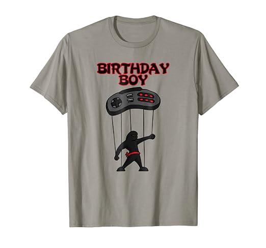 Amazon.com: Ninja Birthday Boy Shirt, Gamer Birthday Outfit ...