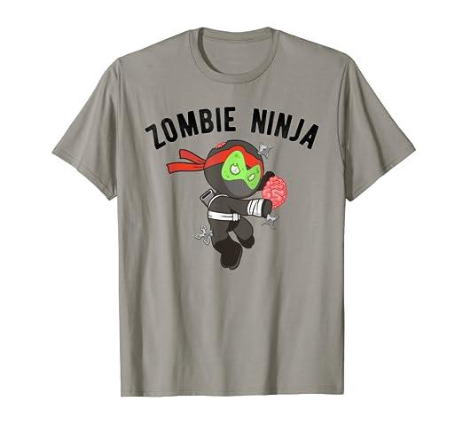 Amazon.com: Zombie Ninja T-Shirt, Kids Martial Arts Tee ...