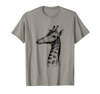 25384d79 Image Unavailable. Image not available for. Color: Vintage Giraffe Print T- Shirt