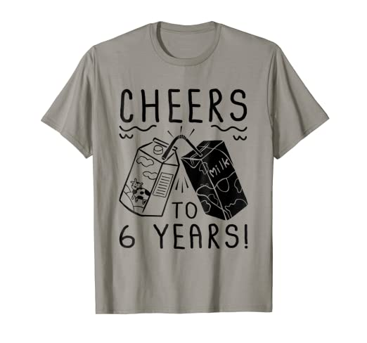 Amazon Cheers To 6 Years Old T Shirt 6th Birthday Gift Clothing