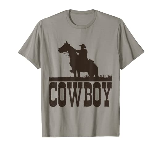 dd55be0cb Amazon.com: Cowboy T Shirt , Horse Rider Western Cool Tee Shirt ...