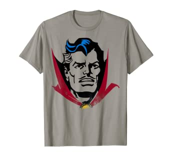 eda95981fe4d Image Unavailable. Image not available for. Color: Marvel Doctor Strange  Classic Retro Comic Big Head T-Shirt