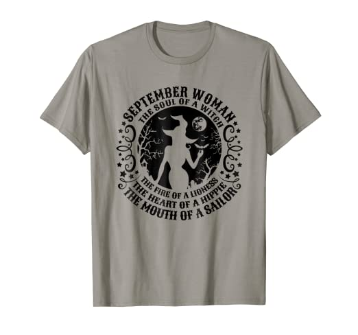 c1d6959ad Image Unavailable. Image not available for. Color: September Woman The Soul  Of A Witch T-shirt ...