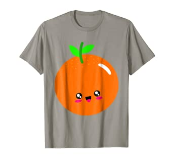 0c9a90f0a Amazon.com: Adorable And Cute Kawaii Orange EAT THIS FRUIT T-Shirt ...