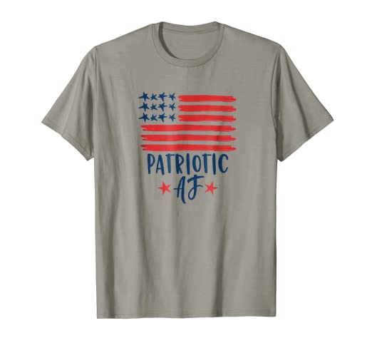 2c0b5b3d Image Unavailable. Image not available for. Color: Patriotic AF American  Flag Tee Shirt 4th of July ...