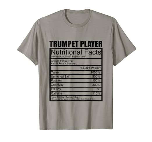 6724b404df Image Unavailable. Image not available for. Color: Funny Trumpet TShirt -  Gift ...